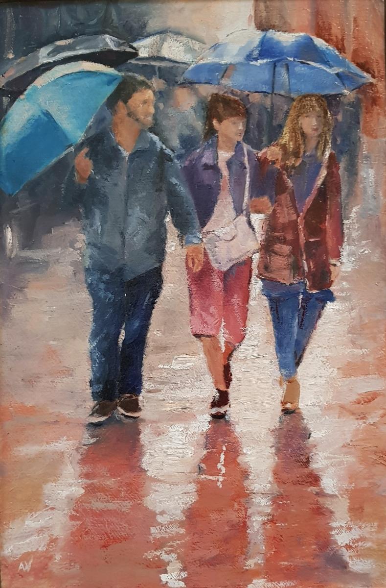 Foto van Regen in de stad  (1)