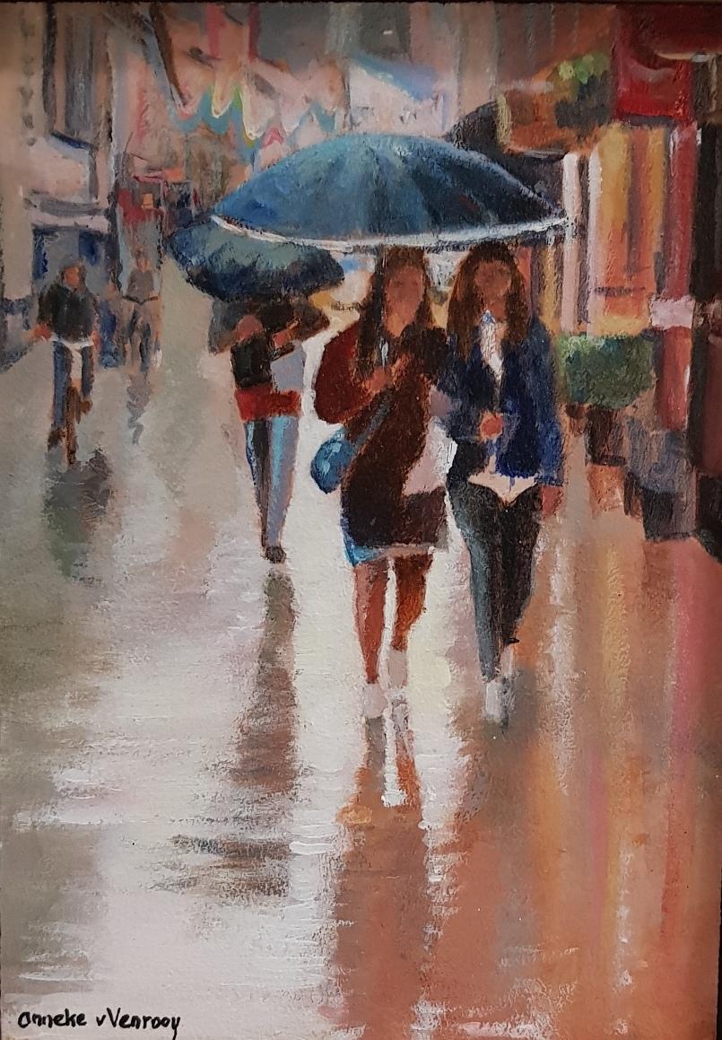 Foto van Regen in de stad  (2)