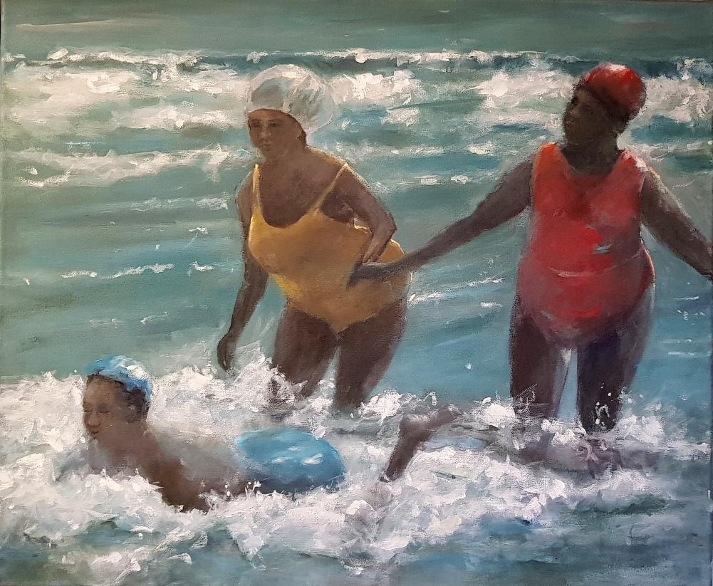 Vriendinnen in zee (2)